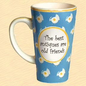 Tumbleweed The Best Antiques are Old Friends Tall Coffee Mug