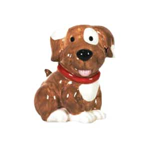 Waxcessories Ceramic Brown Puppy Bank