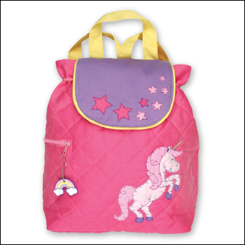 Stephen Joseph Pink Unicorn Quilted Backpack