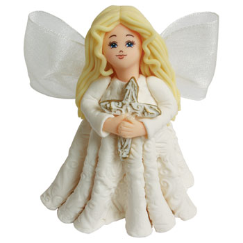 Blessed Holiday Kneeded Angels Ornament