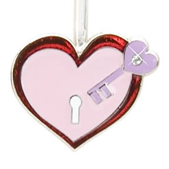 Heart Lock & Key Finders Key Purse