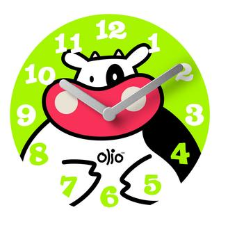 Cow Whimsy Wall Clock
