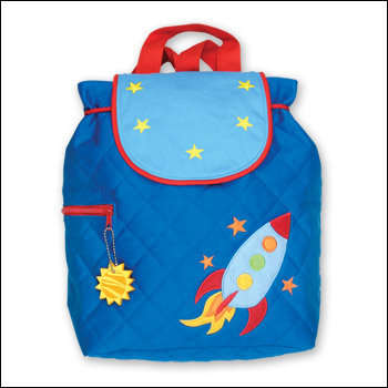 Stephen Joseph Outerspace Rocketship Quilted Backpack