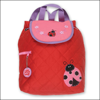 Stephen Joseph Kids Ladybug Themed Quilted Backpack