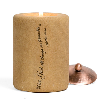 With God...All Things are Possible Comfort Candle