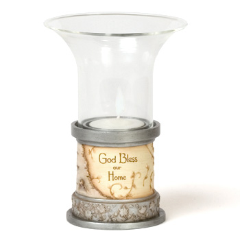 Elements God Bless our Home Votive Holder by Pavilion