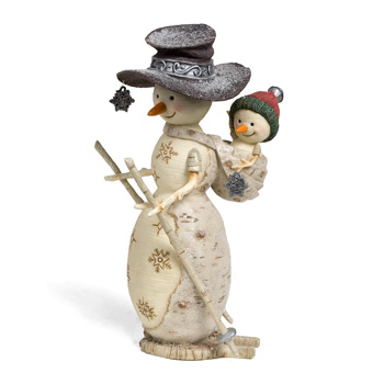 "The Birchhearts 6"" Snowman with String of Snowflakes by Pavilion Gift"