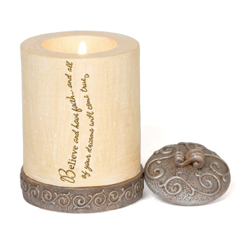 Comfort to Go Believe Candle by Pavilion Gift
