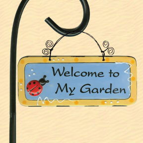 Welcome to My Garden Tumbleweed Garden Plaque