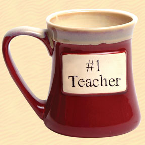 #1 Teacher Tumbleweed Classic Word Oversized Coffee Mug