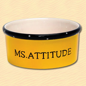Tumbleweed Ms. Attitude Pet Bowl