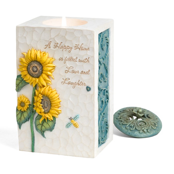 Comfort In Bloom Happy Home Candle by Pavilion Gift