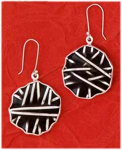 Epoxy & Silver Inlay Earrings