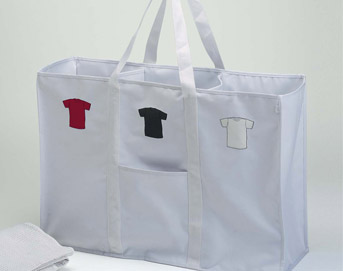 Ore Living Goods Hamper Tote -  White