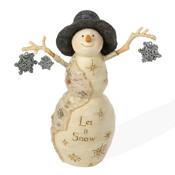"The Birchhearts 4.5"" Let it Snow Figurine by Pavilion Gift"