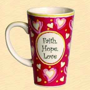 Tumbleweed Faith, Hope, Love Tall Coffee Mug