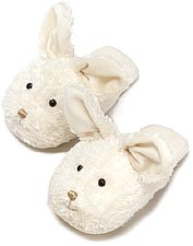 Kids Dezi AniMules Fuzzy Creme Bunny Slippers - Toddler Size