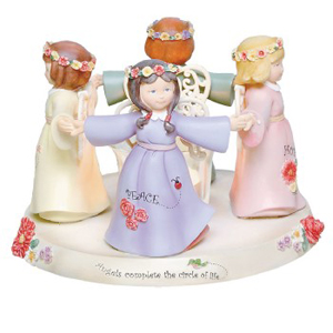 Ella Bella Circle of Life Angel Candle Votive