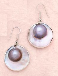 Mabe Blister Pearl Earrings