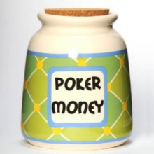 Tumbleweed Poker Money Designer Word Jar