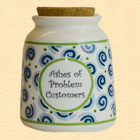 Tumbleweed Ashes of Problem Customers Designer Word Jar