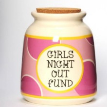 Tumbleweed Girl's Night Out Fund Designer Word Jar-Discontinued