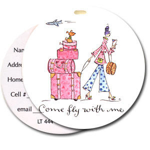 Come Fly With Me High Cotton Funny Luggage Tags