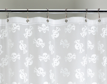 Ore Living Goods White Skull Shower Curtain