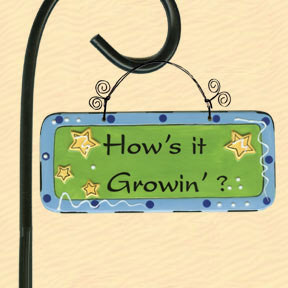 How's It Growin'? Tumbleweed Garden Plaque