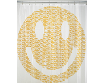 Ore Living Goods Happy Face Shower Curtain