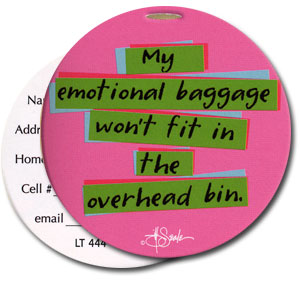 Emotional Baggage High Cotton Funny Luggage Tags