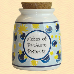 Tumbleweed Ashes of Problem Patients Designer Word Jar