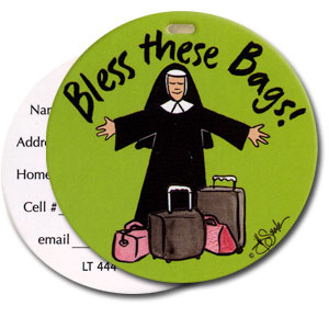 Bless These Bags High Cotton Funny Luggage Tags