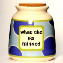 Tumbleweed What the IRS Mi$$ed Designer Word Jar
