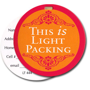 This Is Light Packing High Cotton Funny Luggage Tags
