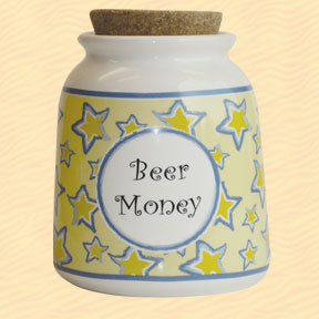 Tumbleweed Beer Money Designer Word Jar