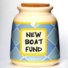 Tumbleweed New Boat Fund Designer Word Jar