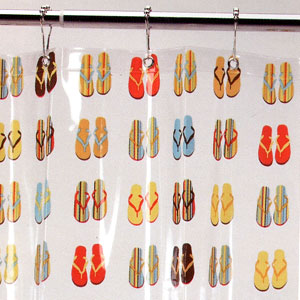Ore Living Goods Flip Flop Sandals Shower Curtain