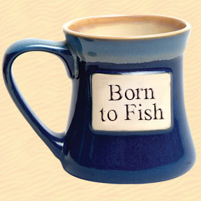 Born to Fish Tumbleweed Classic Word Oversized Coffee Mug