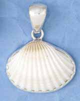 Sterling Silver Ark Shell Pendant