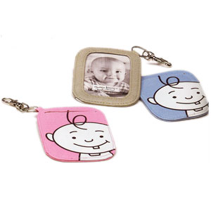 Ore Pink or Blue Peek-a-Boo Photo Brag Tags