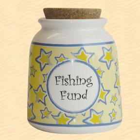 Tumbleweed Fishing Fund Designer Word Jar