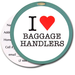 I Love Baggage Handlers High Cotton Funny Luggage Tags