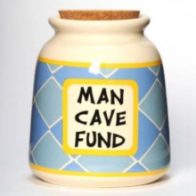 Tumbleweed  Man Cave Fund Designer Word Jar