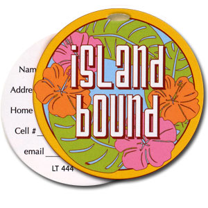 Island Bound High Cotton Funny Luggage Tags