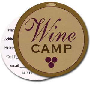 Wine Camp High Cotton Funny Luggage Tags