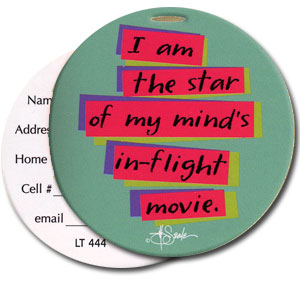 In-Flight Movie High Cotton Funny Luggage Tags