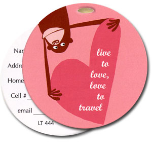 Love To Travel High Cotton Funny Luggage Tags