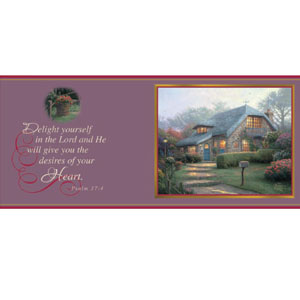Thomas Kinkade Painter of Light Lilac Cottage Christian Coffee Mug