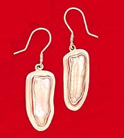 One of a Kind Biwa Pearl Earrings by Charles Albert